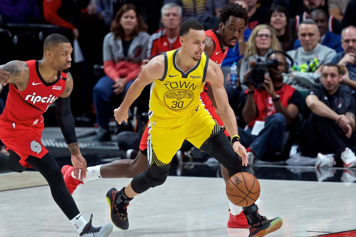 Stephen Curry was dominant in leading the Warriors to a Western Conference Finals sweep of Portland.