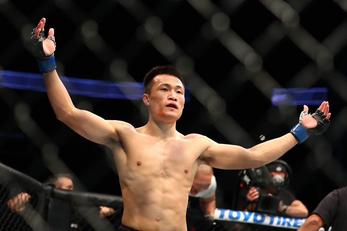 Chan Sung Jung will battle Renato Moicano in a featherweight bout on Saturday night.