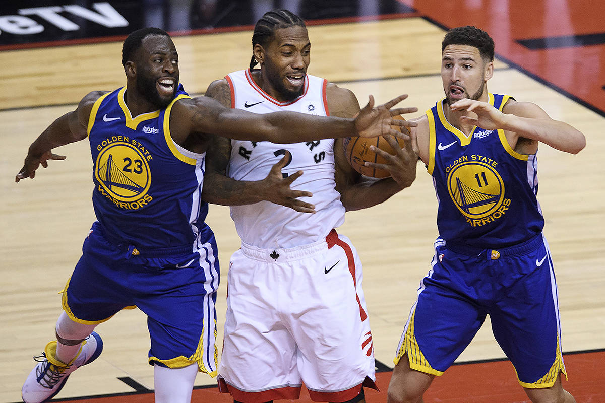The Warriors' defense shut down Toronto in Game 2 of the NBA Finals.