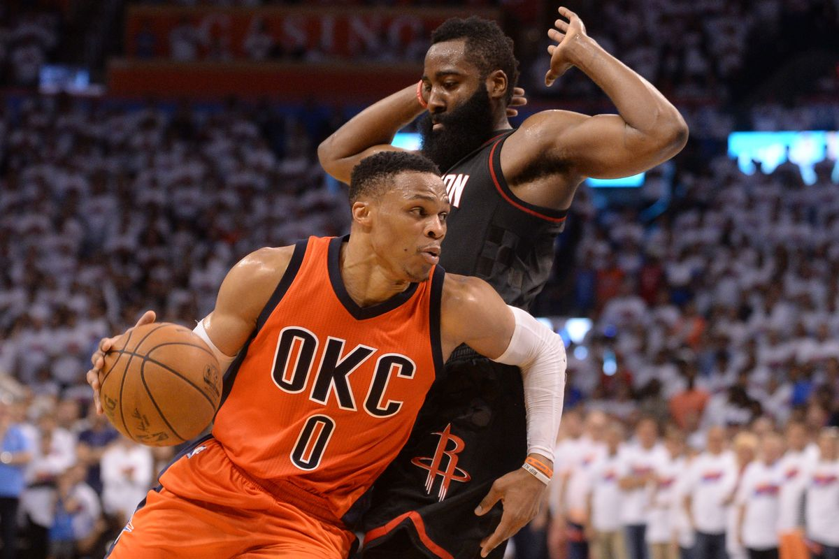 Russell Westbrook and James Harden will now team up in Houston after Westbrook was traded to the Rockets.