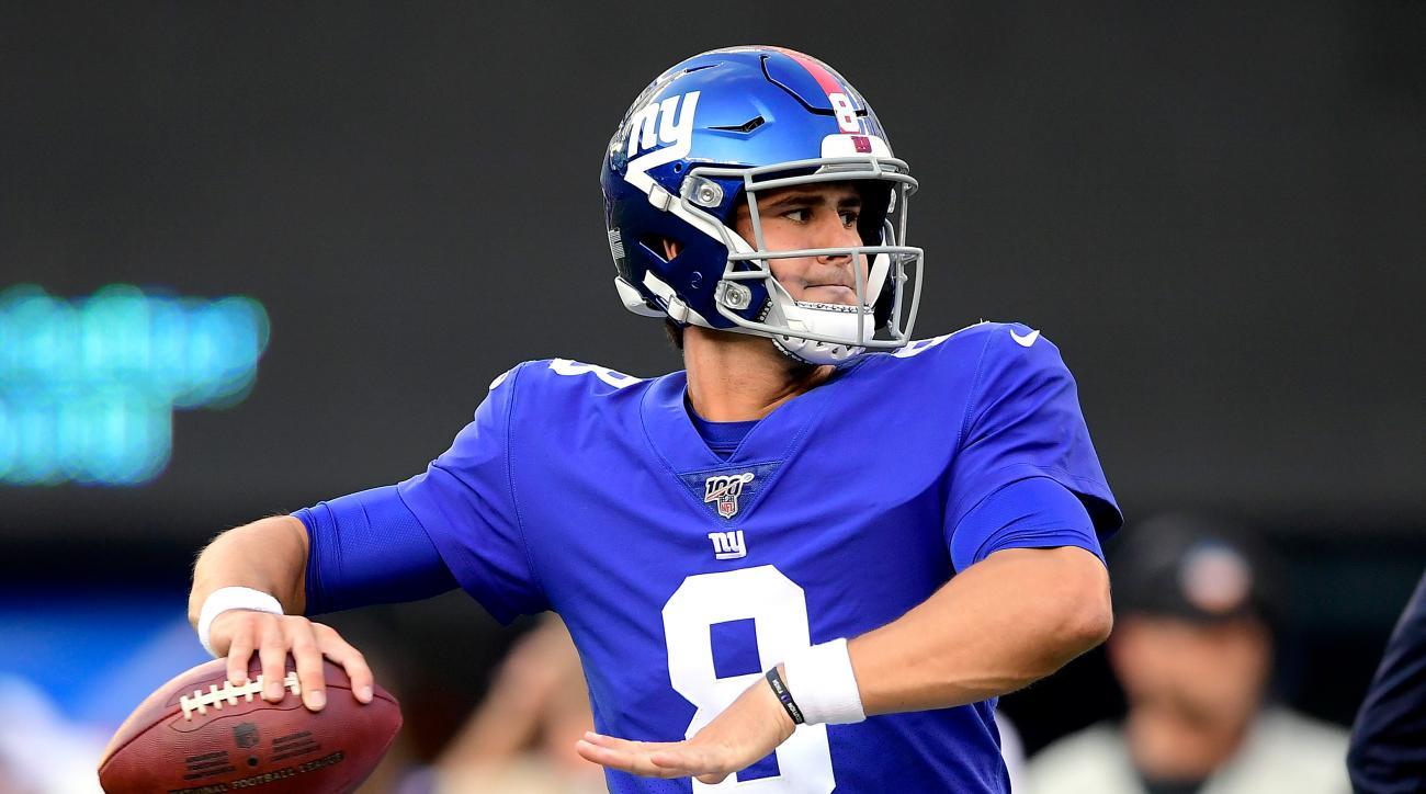 Rookie quarterback Daniel Jones should get plenty of time under center in the New York Giants' game with the Cincinnati Bengals.