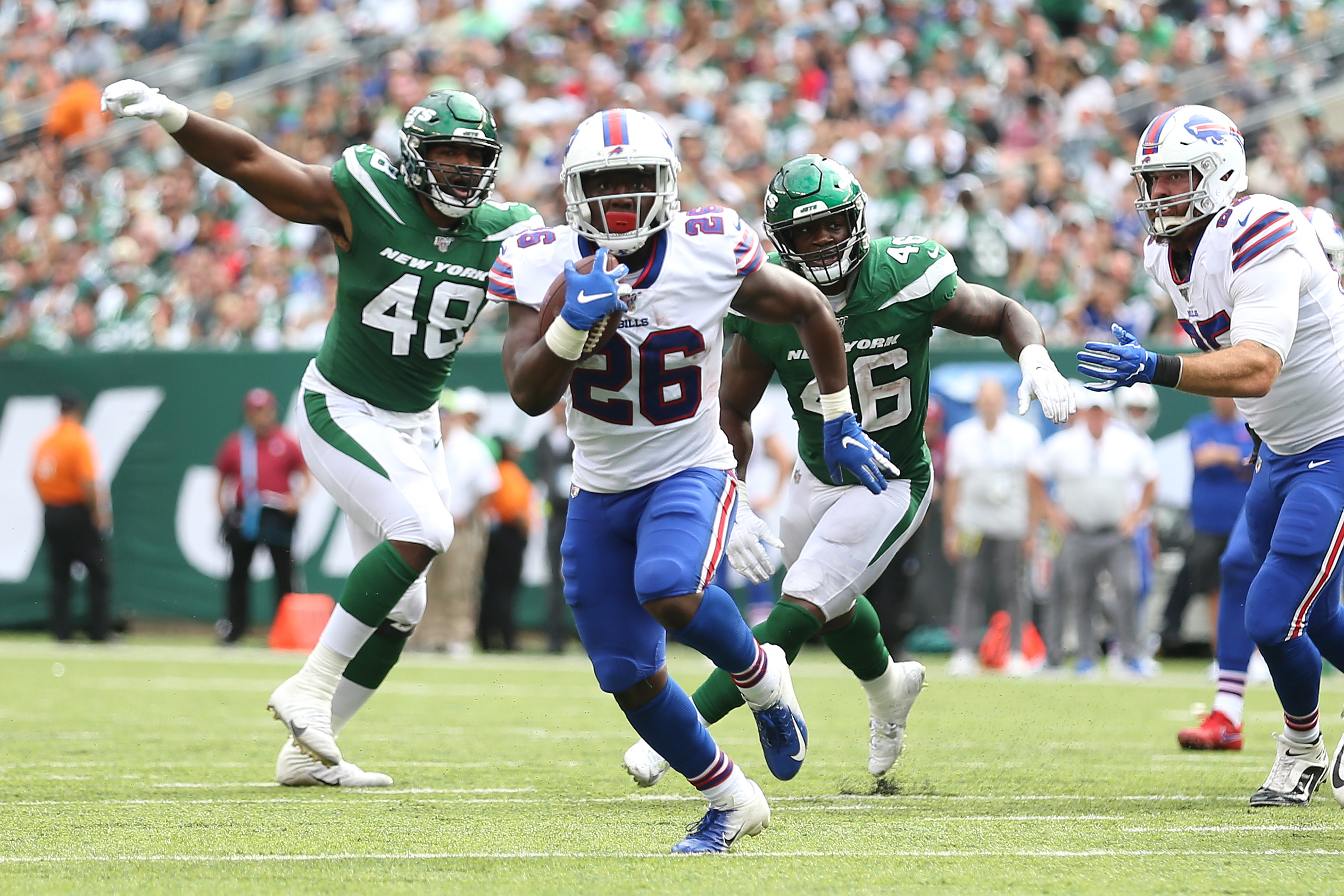 The Buffalo Bills face a New York team -- this time the Giants -- for the second straight week, with a likely similar result to their opening win.