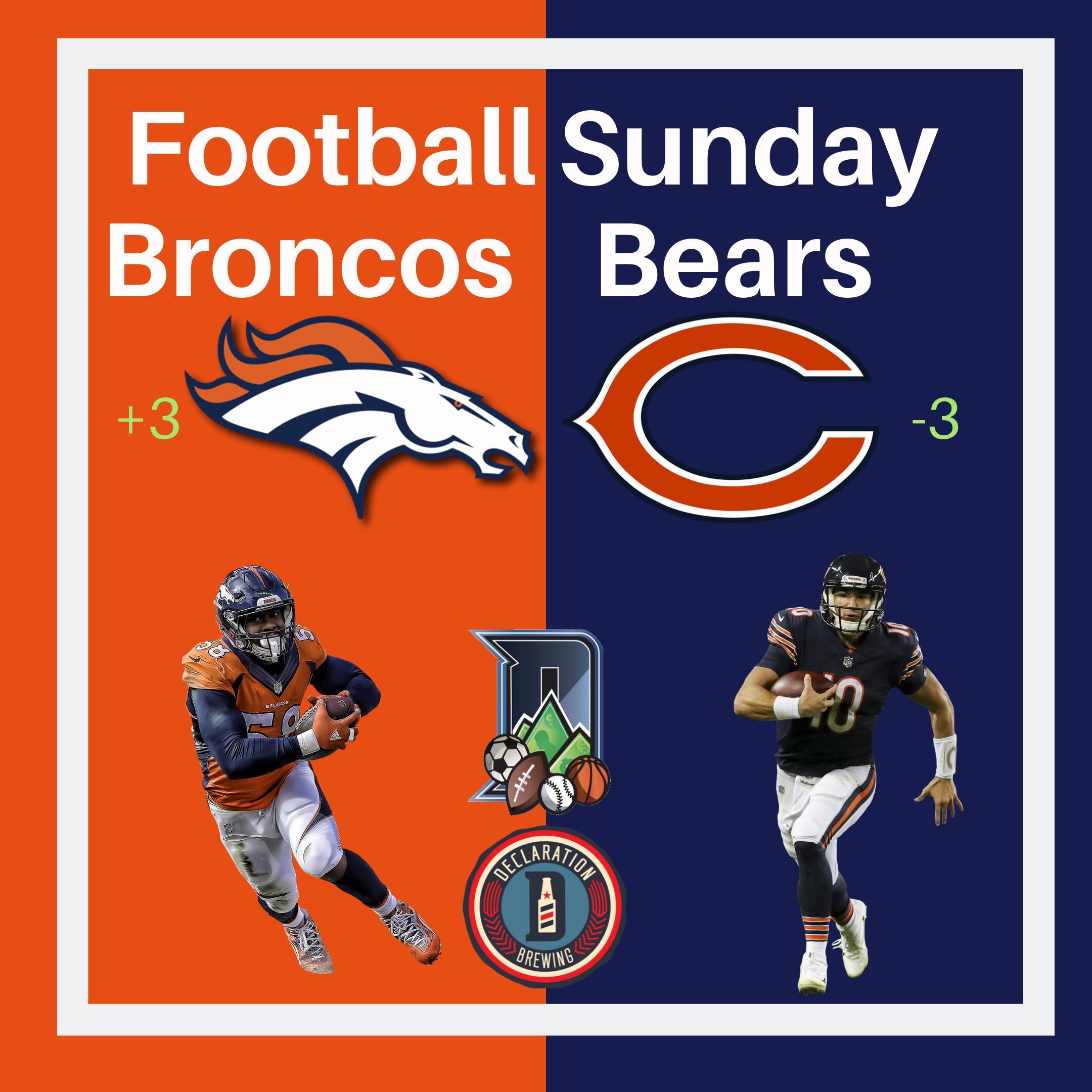 Broncos versus Bears at Declaration Brewery