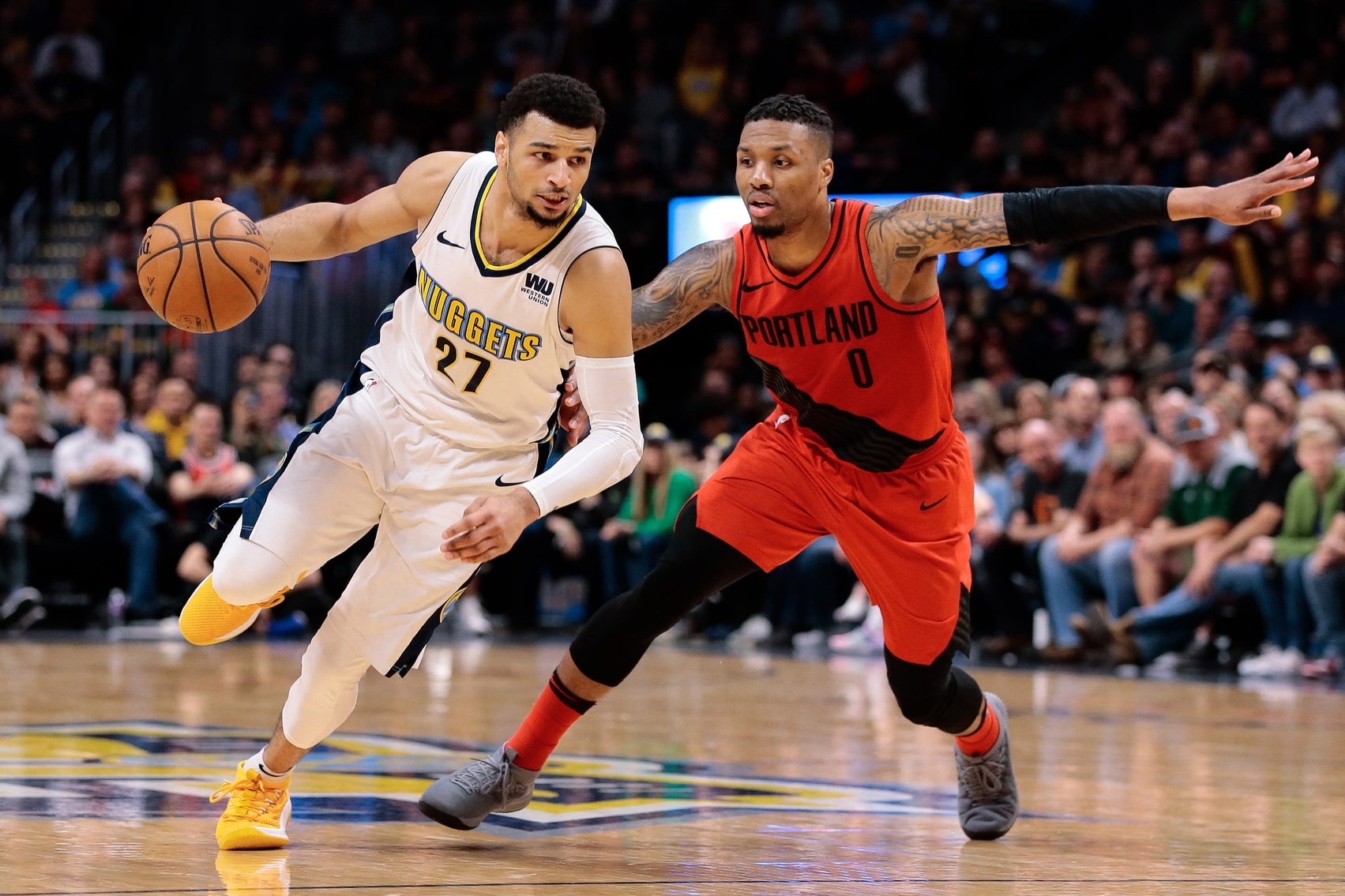 Jamal Murray and the Nuggets take on Damian Lillard and the Trail Blazers on Wednesday in both teams' season opener.