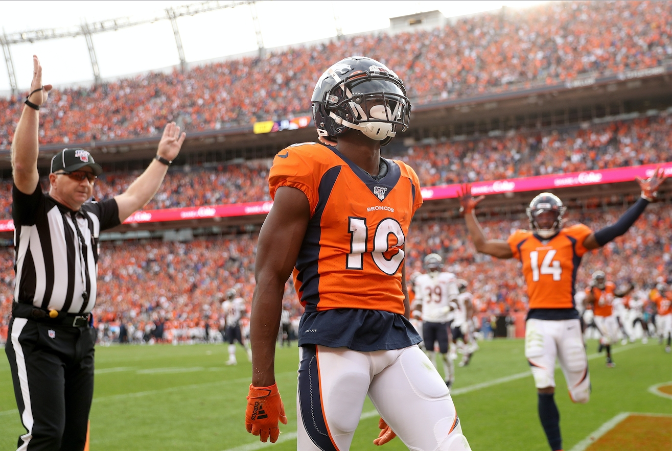 Emmanuel Sanders will be a busy player this week against a Tennessee team that gets burned over the middle.