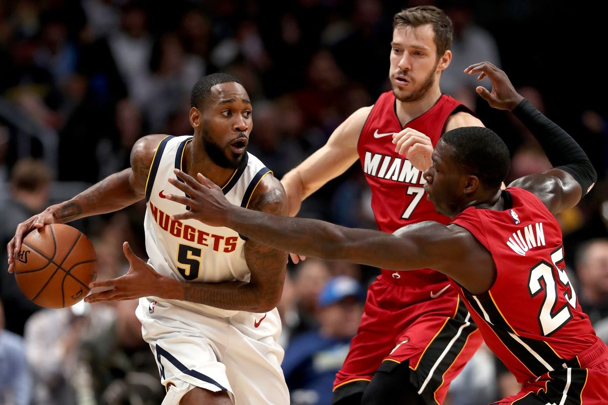Will Barton is coming off a double-double in a victory over Miami Tuesday. The Nuggets host the 76ers on Friday night.