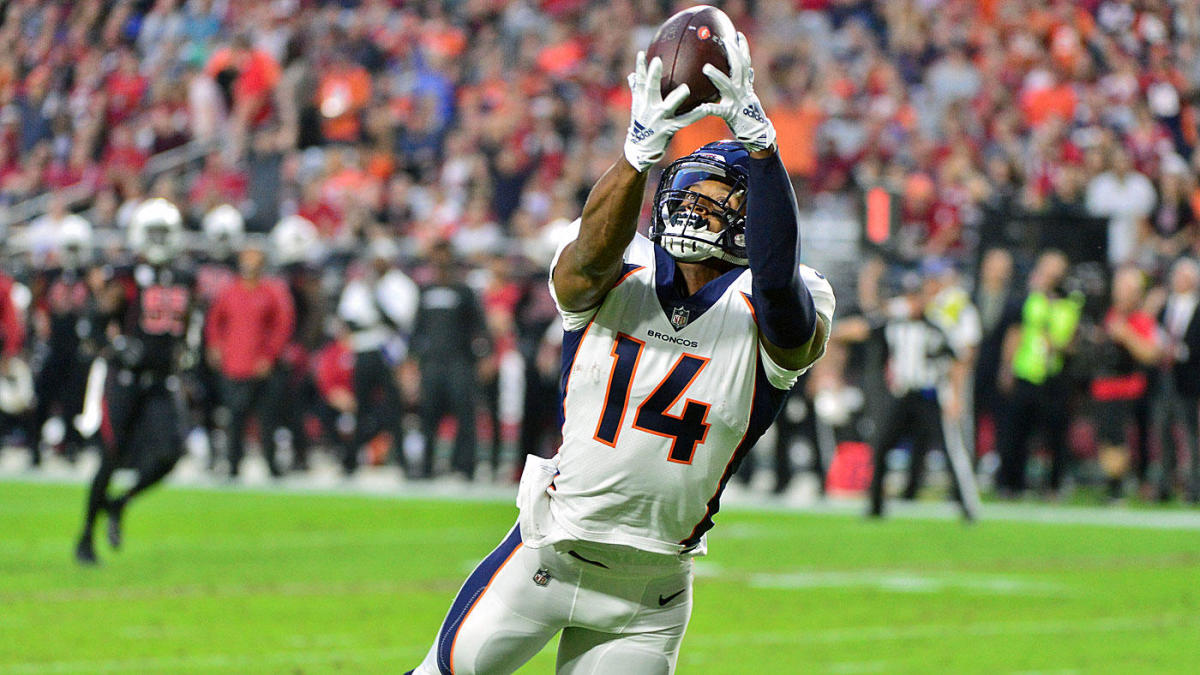 Courtland Sutton and the Broncos will try to stretch the Houston defense in Sunday's game.